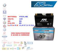 BATTERIA MOTO SCOOTER QUAD 12V 6A CCA-EN 85 YTX7L-BS APG EXTREME XETX7LBS