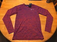 Ret$90 NIKE DRY KNIT Men's Long Sleeve Running Top SZ M 833565 452