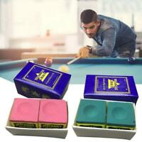 Triangle Cue Tip Chalk For Snooker Pool Billiard Tables  Green  Red  Blue   Top
