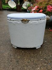 Vintage ottoman storage box footstool sewing box