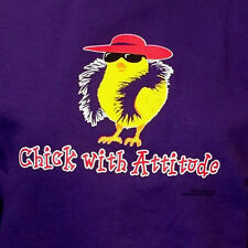 Red Hat Society Ladies Purple Sweatshirt Chick With Attitude Size Small NWT