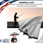 Outdoor Fishing Handfree Umbrella Hat Waterproof UV Protection Cap Adjustable