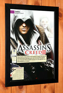Assassin's Creed II 2 Xbox 360 One PS3 PS4 Rare Small Poster / Ad Page Framed