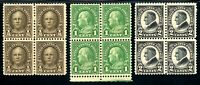 USAstamps Unused VF US Portraits Blocks PO Fresh Scott 551, 610, 632 OG MNH