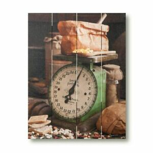 Country new Market Scale Large Wood Pallet Wall Print