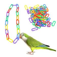 100 Plastic Parrot Toy C-clips Hooks Chain C-links Sugar Glider Rat Parrot Parts
