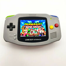 Gray GBA Game Boy Advance Game Console with iPS Backlight Backlit LCD MOD