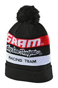 Troy Lee Designs SRAM TLD Racing Block Pom Beanie - Black