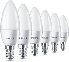 6 PK Philips LED Ghiacciata E14 Bianco Caldo Edison 40w