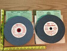 "2 TRW Bench Grinding Wheels 8"" x 3/4"" One Coarse Wheel One Fine Wheel"