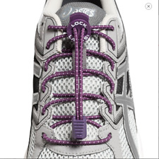 Lock Laces Purple Shoes Boots Trainers No Tie Laces One Size Fits ANY SHOES