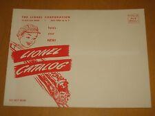 LIONEL 1953 CATALOG MAILING ENVELOPE - MINT UNCIRCULATED CONDITION - CASE FRESH!