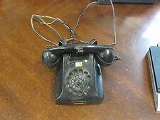 Vintage Table Top Rotary Dial Phone PTT Made in Holland Black Bakelite Art Deco