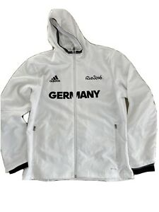 Adidas Deutschland Team D GERMANY Olympia DOSB Hoodie Jacke Shirt Größe L Rio