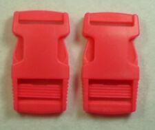 2 piezas cierre hebilla 25mm Fucsia
