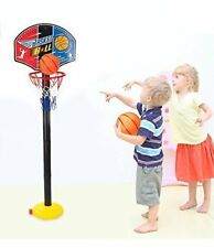 Childs Adjustable Free Standing Basketball Hoop Netball Net Toy Outside Games