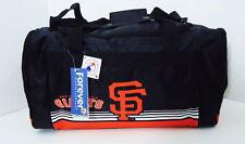 "San Francisco Giants DUFFEL Bag Gym Training New Stripes 20"" x 11"" x 11"" MLB"