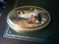 Marks and Spencer St Michael Biscuit Storage Tin Gold colour
