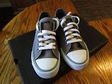 Harley Davidson HD D61010 Kids Youth Rascal Grey Canvas Boy's Shoes Size 2 NEW