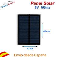 Panel Solar 6V 100mA 80x60 Placa Solar Celula Fotovoltaica Cargador