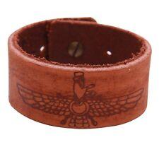Genuine Leather Farvahar Farohar Bracelet Persian Zoroastrian Faravahar Persia
