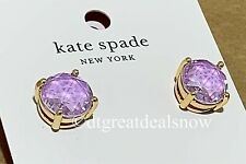 NWT Kate Spade Lavender Lilic Round Gumdrop Studded Earrings