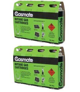 8 Pack - Gasmate BUTANE GAS CARTRIDGES BBQ Fuel, Portable, Convenient