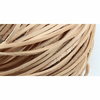Flat 2mm-30mm 100% Real Genuine Leather Thong String Cord 3 Color Choose 1 Meter