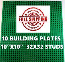 "Genuine LEGO piece-brick + 10 10""x10"" Base plates 32x32 compatible with LEGO"