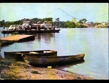 LA SANAGA (CAMEROUN) VOLKSWAGEN Combi , AUTOBUS & CAMION sur BATEAU- BAC