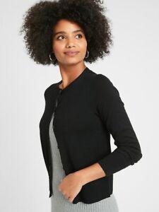 Banana Republic Cardigan Black Washable Crew Neck Sweater NEW MSRP $49 XXS-L