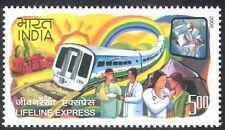 India 2009 trenes/Carril/médico/salud/Enfermera/transporte ferrocarril/1 V (n26754)