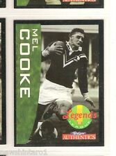 1995  NEW ZEALAND  RUGBY LEAGUE LEGEND CARD #51 MEL COOKE, HORNBY & MONARO