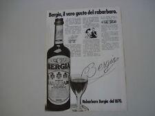 advertising Pubblicità 1980 RABARBARO BERGIA