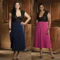 Plus Size Lingerie Sizes 1X 2X or 3X Navy Blue or Pink Long Gown    SOHX3225