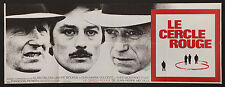 LE CERCLE ROUGE/THE RED CIRCLE '70 French 23x63 Alain Delon Jean-Pierre Melville