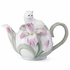 New in Box * Fancy Feline & Floral Teapot Lenox