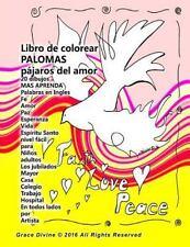 Libro de Colorear Palomas Pájaros Del Amor 20 Dibujos y Aprender Palabras en...