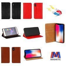 Custodia Flip Cover in Pelle Cuoio Per Apple Iphone 5 5s SE 6 6s 7 8 X XS Max XR