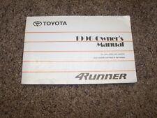 1996 Toyota 4Runner Owner User Guide Manual SR5 Limited 2.7L 4 Cylinder 3.4L V6