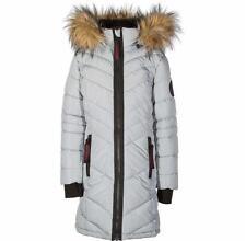 New tags Girls WEATHERPROOF Size 8 Gray - WINTER PARKA COAT Long Hooded - 8