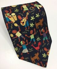Hallmark Silk A Celebration of Heritage Mahogany 58L Music Dancing Necktie