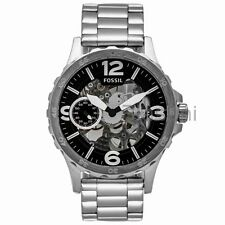 Fossil Original ME3129 Mens Nate Hand-Wound Mechanical Stainless Ste Watch 50mm