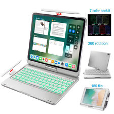 silver color iPad Pro 11 inch smart keyboard case with wireless backlit keys