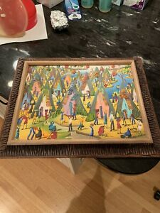 Haitian Artist  Valito Charles Oil Painting, Framed, Signed by Artist