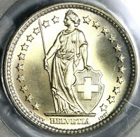 1961 PCGS MS 67 Switzerland 2 Francs Mint State Swiss Coin (19111203C)