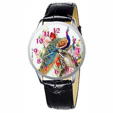 Peacock Stainless Wristwatch Wrist Watch