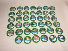 (AP) 1999 Nintendo Pokemon Master Trainer Board Game REPLACE PART 41 GREEN CHIPS