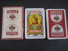 Baraja Española Fournier. Publicidad CERVEZA EL AGUILA. Playing cards