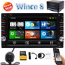 Camera+6.2'' In dash GPS Navigation System Double 2 Din Car Stereo DVD CD Player